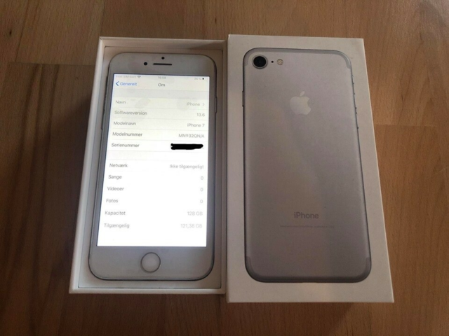 iPhone 7, 128 GB, aluminium, Rimelig, Model: iPhone 7. GB:…