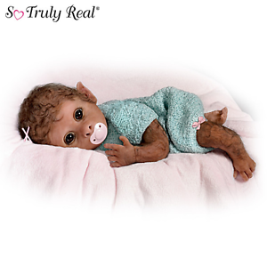 Ashton Drake Clementine Needs A Cuddle Baby Monkey Doll By Linda Murray NEW NIB