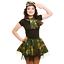 Hen Do serata ragazza dell/'esercito mimetica Gonna Tutu Muddy Race Costume Danza