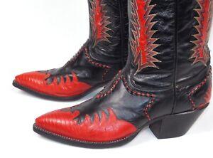 Tony Lama Classic Fire Walker Black Red