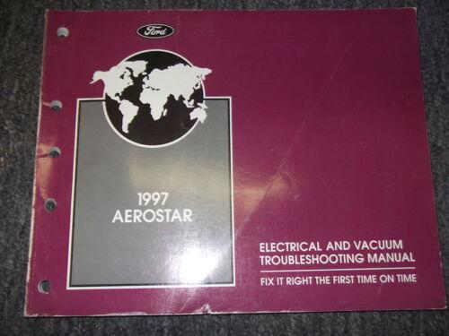 1997 Ford Aerostar Electrical Wiring Diagrams Troubleshooting Manual EVTM OEM