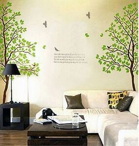 """VINILO PEGATINA PARED """"TWIN TREES"""" DOBLE FACIL DE COLOCAR -SIN TRANSFER-"""