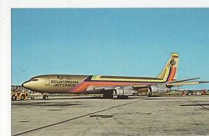 Equitoriana-Boeing-707-321C-Aviation-Postcard-A650