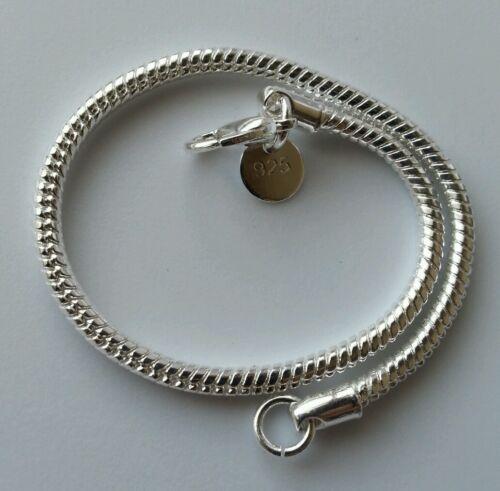 "Women/'s Mens Unisex 925 Sterling Silver Fit European Beads Bracelet 8/"""