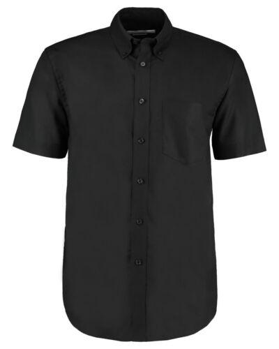 Kustom Kit Men/'s Workwear Manica Corta Camicia Oxford