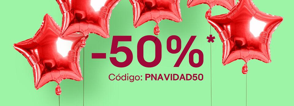 Código PNAVIDAD50 - ¡Paga solo la mitad!