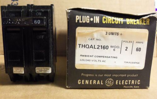 NEW GE thqal thqal 2160 60 Amp 2 Pôle Disjoncteur