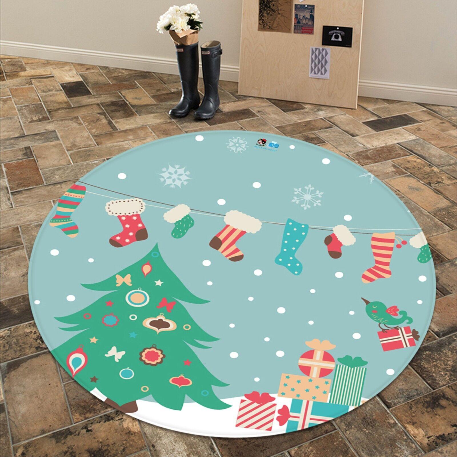 3D Natale Xmas 623 Antiscivolo Tappeto Tappetino stuoia di qualità rossoondo Elegante Tappeto foto Regno Unito