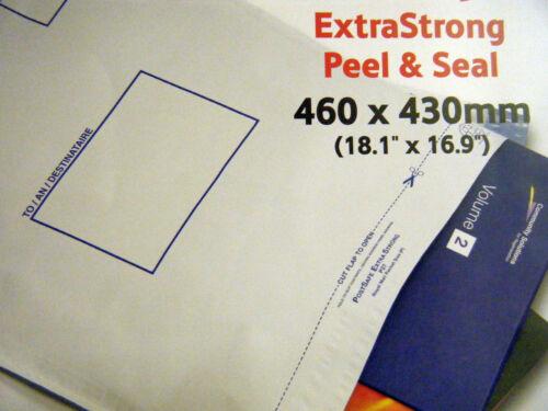 10 x Plastic Mailing Bags PostPak Poly Envelopes 460 x 430mm