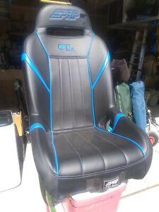 Black PRP GT S.E. UTV Front Seat (1 only) Voodoo Blue Pipping Polaris RZR XP1000