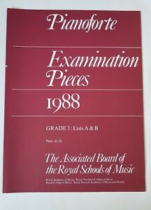 Abrsm Pianoforte Examination Pieces 1988 Grade 3-afficher Le Titre D'origine