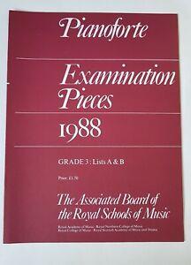 Fougueux Abrsm Pianoforte Examination Pieces 1988 Grade 3-afficher Le Titre D'origine Un RemèDe Souverain Indispensable Pour La Maison