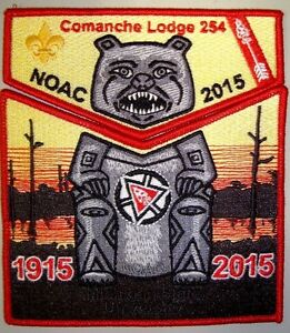 OA-COMANCHE-254-LOUISIANA-PURCHASE-2-PATCH-100TH-ANN-NOAC-2015-RMY-DELEGATE-FLAP