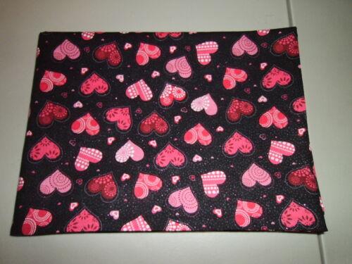 1-Glitter Decorated Hearts Valentine/'s Day Standard Size Pillowcase New-Handmade