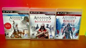 Assassin's Creed III Rogue Brotherhood  Game Lot PS3 Sony Playstation 3 COMPLETE