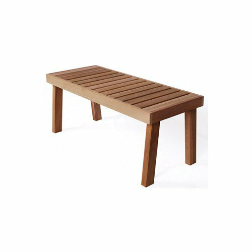 Great for Garden Free Ship! Sauna Large Western Red Cedar Bench anywhere