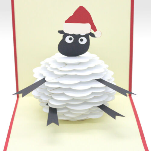 3D Noël Shaun le mouton Pop Up Carte de Noël Vendeur Britannique