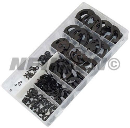 300 Piezas E-Clip Surtido Kit 1.6 a 22.2 Mm-anillo elástico anillo de retención Clip C