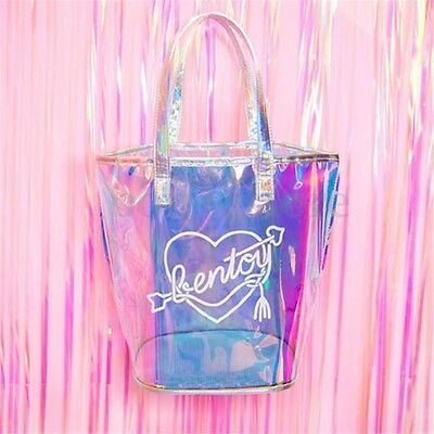 2017 Women Holographic Shoulder Bag Hologram Laser Tote Purse Handbag Bags Hot