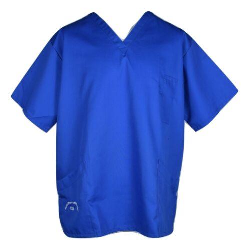 Blu-XL-Nhs Medical Scrub Infermiere Lavoro Sanitario-usura uniforme OSPEDALE Scrubs