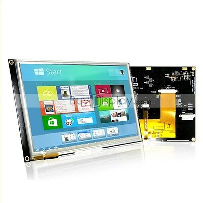 "7""inch TFT LCD Module w/Multi-Capacitive Touch Screen Panel,I2C,SPI,Tutorial"
