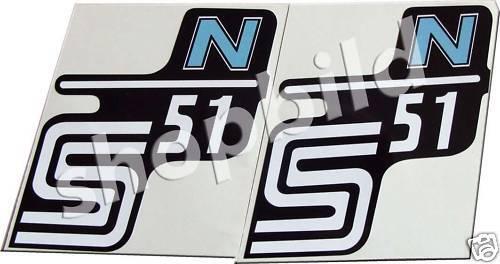 Aufkleber Simson S51 N