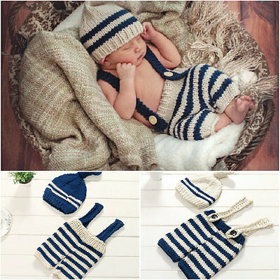 Photo Photography Prop Hats Outfits Newborn Baby Girl Boy Crochet Knit Costume