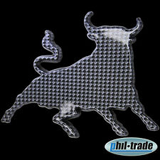 3d carbon emblema pegatinas logotipo toro estrella caracteres Bull toro TORRO Taurus l003