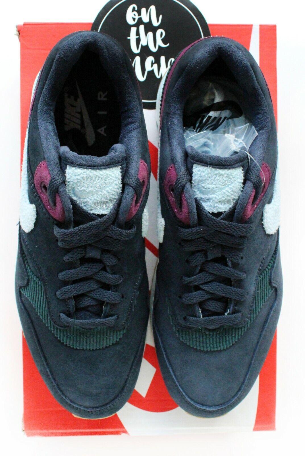 Nike Air Max 1 Crepe Dark Obsidian Blue Cobalt Tint UK 7 US 8 New