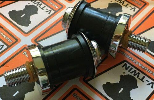 "CHROME Flush Mount Riser Bolt Kit w// POLYURETHANE Bushings 1//2/"" x 13 #28-0670"