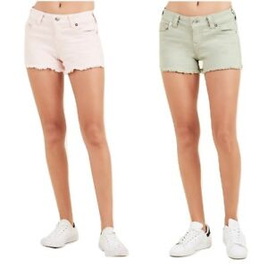 e287f1748 True Religion Women s Keira Low Rise Denim Cutoff Mini Shorts