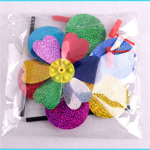 Kids Toy Colorful Sequins Windmill Wind Spinner Home Garden Yard Decoration  ßß