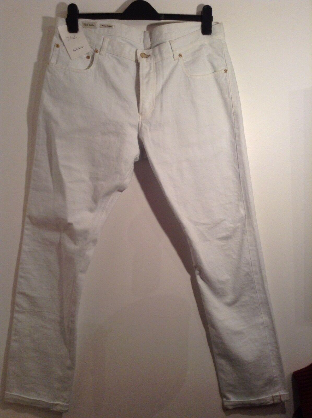 BNWT 100% Auth Paul Smith, da uomo uomo uomo bianca CONO Fit Jeans. 34 RRP .00 d1b5bb