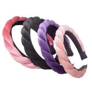 Women-039-s-Girl-Padded-Velvet-Twist-Headband-Hairband-Hair-Accessories-Gift-N-LJ-Js
