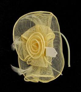 Cream Fascinator Wedding Races Prom Ascot Occasion Wholesale Headpiece hatinator
