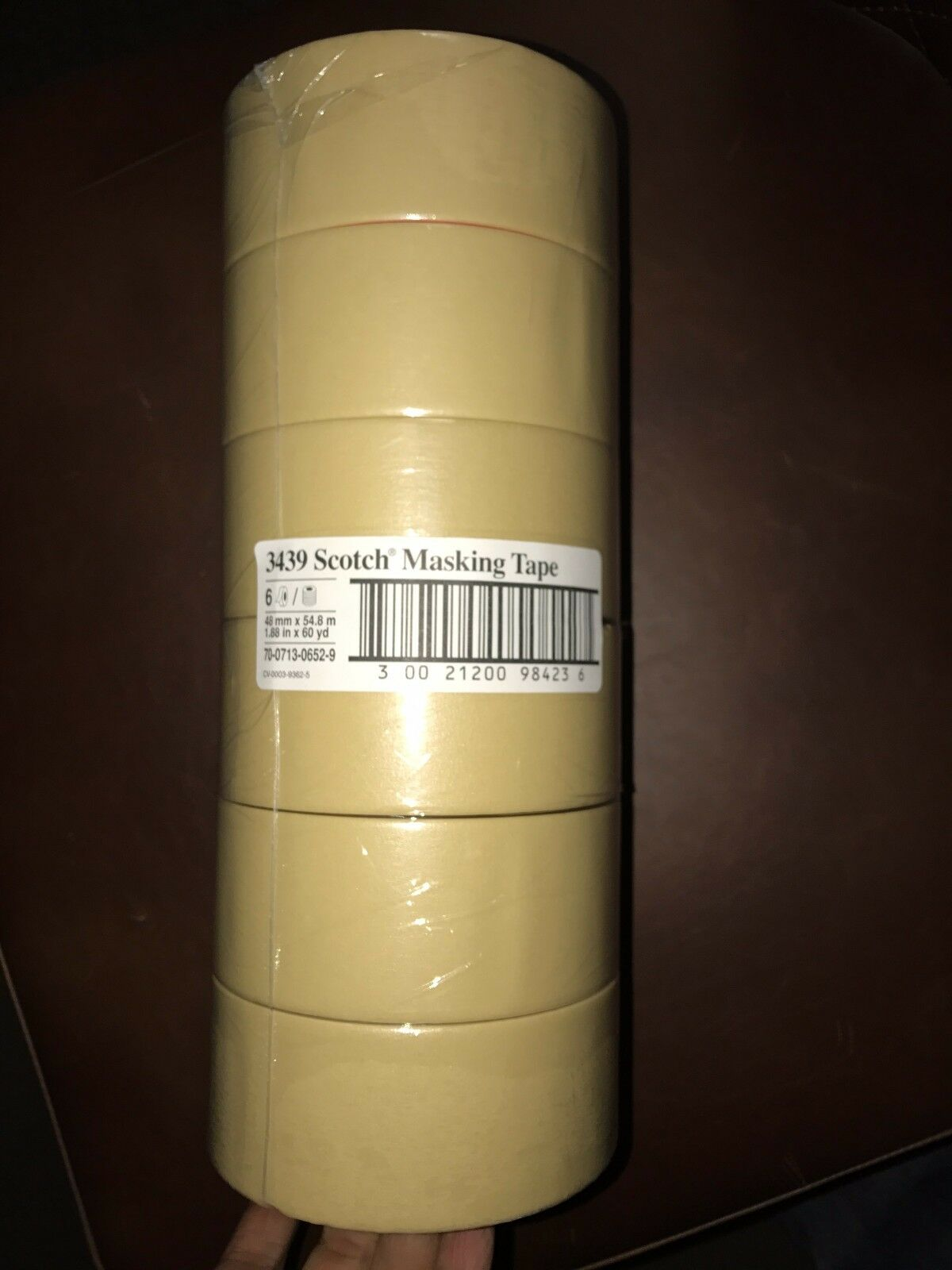 (24 Roll) Roll) Roll) 3M 3439 1.88  X 60 Yards Scotch Home & Office Masking Tape Tan 2  CASE 2e8936