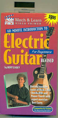 watch learn electric guitar for beginners vhs tape brand new revised on sale ebay. Black Bedroom Furniture Sets. Home Design Ideas