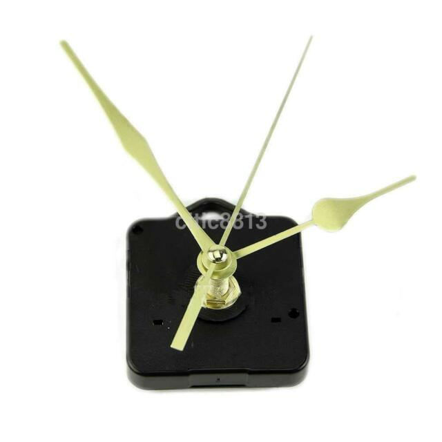 Hot Sale Quartz Clock Movement Mechanism Long Spindle Gold Hand Kit DIY