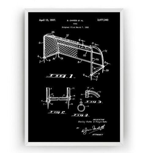 Football Goals Patent Art Print Unframed Poster Wall Decor Gift Soccer