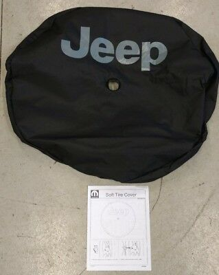 Jeep Logo Black Vinyl 82215434 2018 Jeep Wrangler Spare Tire Cover