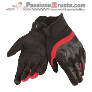 Dainese-Air-Frame-gloves-black-red-moto-scooter