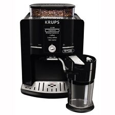 Krups EA82F8 Latt'Espress Quattro Force Schwarz-Edelstahl Kaffeevollautomat