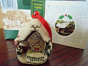 LILLIPUT-LANE-L2398-CHRISTMAS-PUDDING-HENBURY-AVON-ENGLAND-BOX-amp-DEEDS