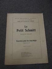 Le petit Schmitt exercices pour les 5 doigts op 16 pour piano