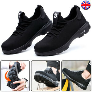 Men/'s Lightweight Safety Shoes Steel Toe Work Boots Sports Hiking Shoes Trainers