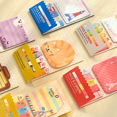 New 1PC Cute Sticker Bookmark Mark Memo Flags Index Tab Sticky Notes