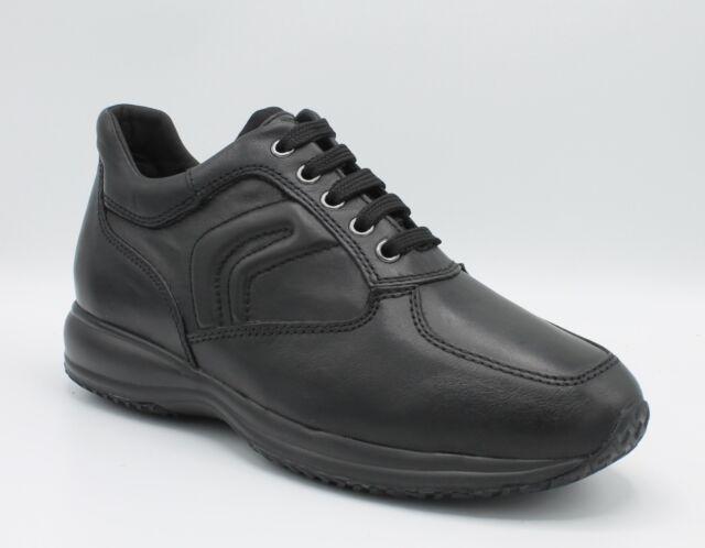 Geox Scarpe Sneakers da Uomo Pelle in Invernali Stringate Happy Casual con Lacci