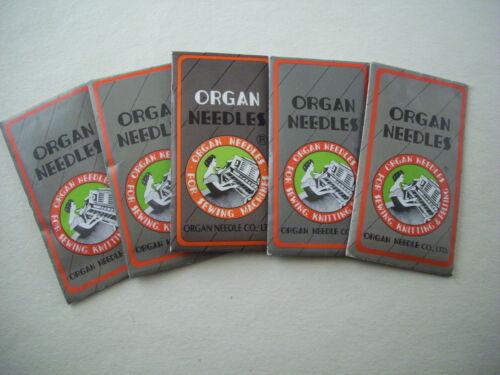 50 ORGAN Sewing Machine Needles DPX17 135X17 MANY SIZES