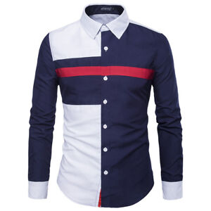 Blouse-Mens-Luxury-Casual-Shirts-Slim-Fit-Long-Sleeve-Dress-Shirts-Tops