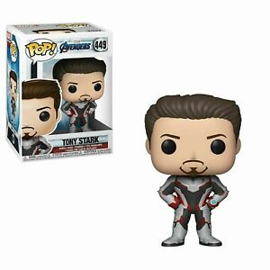 Funko Pop! Marvel Avengers Endgame TONY STARK #449 Vinyl Figure NEW & IN STOCK
